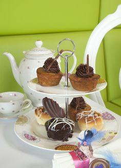 Una buena variedad de cupcakes no puede faltar.