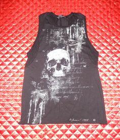 "LIP SERVICE Autopsy ""Mortality Rate"" sleeveless shirt #M12-076"