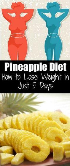 Pineapple Diet: How to Lose Weight in Just 5 Days Ananas-Diät: Abnehmen in nur 5 Tagen Fast Weight Loss, Weight Loss Program, Weight Gain, How To Lose Weight Fast, Reduce Weight, Loose Weight, Lose Fat, Fat Fast, Body Weight