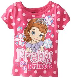 Disney Little Girls Sofia Pretty Short Sleeve TShirt Rosey Ring 2T >>> You can find more details by visiting the image link-affiliate link.