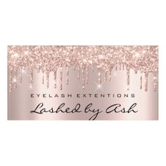 Shop Drips Rose Spark Gold Beauty Salon Lash Makeup Door Sign created by luxury_luxury.