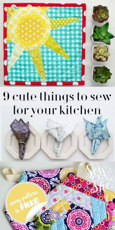 9 Cute Things to Sew for Your Kitchen (all free tutorials!) — SewCanShe   Free Daily Sewing Tutorials