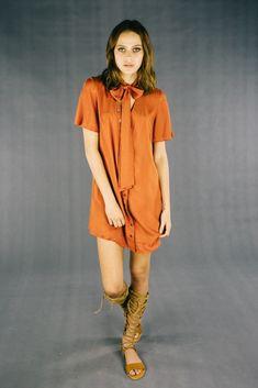Mars dress (rust) #nattygal #thenatty #bohemian #bow #flowing #lenni