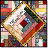 blocks in blocks - I like this!  It would use up lots of scraps, I like lots of color, and it shouldn't be too difficult.