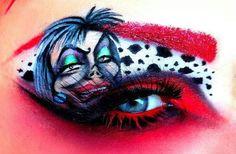 Dazzling Disney Eye Makeup - these are amazing! Crazy Eye Makeup, Eye Makeup Art, Eye Art, Beauty Makeup, Exotic Makeup, Punk Makeup, Beauty Tips, Disney Eye Makeup, Disney Inspired Makeup