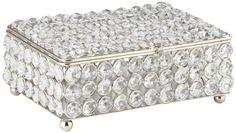 Cristalis Rectangular Crystal 8-Inch-W Jewelry Box -