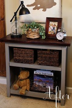 neat way to change the look of a simple piece of furniture