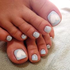 Hello Kitty Stickers On Toddler Nails Nails By Me Pinterest