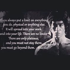 There are no limits...only plateaus