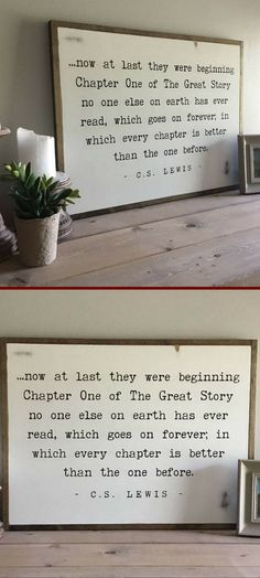 Now at last… CS Lewis Best Rustic Wall Decor Ideas … - Wohn Kultur Rustic Wall Decor, Rustic Walls, Cs Lewis, Diy Décoration, Dyi, Where The Heart Is, First Home, My Dream Home, Beautiful Words