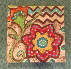 Summer fun 3 piece hand painted canvas art by CreationsOverload, $65.00