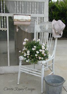 """Christie Repasy has been creating and building, a little white """"Prairie"""" farmhouse façade for her front entrance to her booth for our June 5th-7th 2015, themed event, """"Rhinestones, Ruffles and Rust"""", here is a behind the scenes """"sneak-peek"""" of what will be at the show!"""