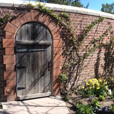 Door to Secret Garden, Thanksgiving Point tulip festival, Lehigh, Utah