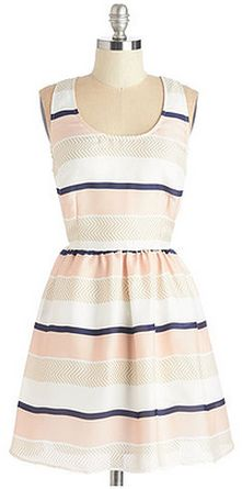 Cute dress. If it is long enough, I could wear this to work with a cartigan.
