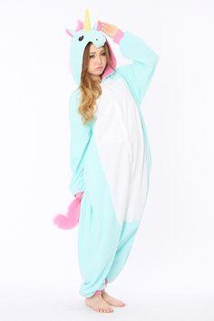 Pijama De Unicornio Azul-Nueva Versión
