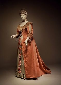 Victorian evening dress from 1895.