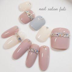 Nail image of 2229029 Nail Swag, Japan Nail Art, Feet Nail Design, Nagel Bling, Nail Charms, Feet Nails, Japanese Nails, Nagel Gel, Bling Nails