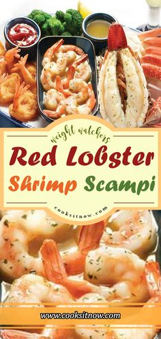 Lobster Shrimp Scampi, Easy Keto Low-Carb Red Lobster Copycat Garlic Shrimp Scampi is a quick and easy recipe, white wine, and parmesan cheese. You can even make the dish without white wine if you prefer. Lobster Recipes, Shrimp Recipes, Fish Recipes, Keto Recipes, Cooking Recipes, Healthy Recipes, Pasta Recipes, Garlic Shrimp Scampi, Gastronomia