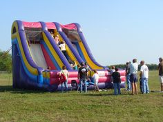 One of our giant slides.