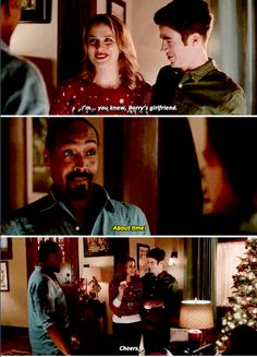Okay, they're cute and all, but... it's unfair that Joe had to give Iris so much crap for dating Eddie, but doesn't do the same for Barry and Patty. Sure, Barry's the Flash, but Patty doesn't know that.