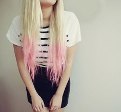 I Love the Dipped Baby Pink #hair
