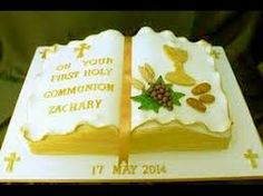 Resultado de imagen para pastel primera comunion Holi, Bible Cake, First Holy Communion Cake, Foto Pastel, Religious Cakes, Banana Split Dessert, Confirmation Cakes, Occasion Cakes, Fancy Cakes