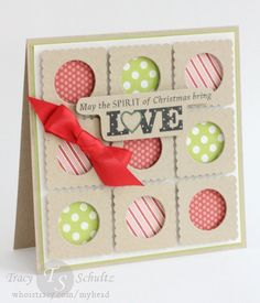 Christmas Brings Love by Tracy Schultz- stamps from WPlus9, paper from MME