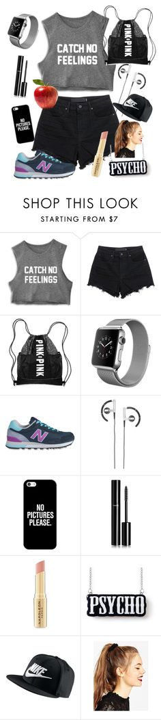 """""""taking a walk"""" by winternightfrostbite ❤ liked on Polyvore featuring T By Alexander Wang, New Balance, B&O Play, Casetify, Chanel, Napoleon Perdis, NIKE, ASOS, women's clothing and women"""