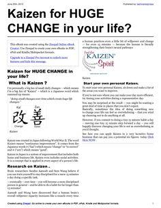 kaizen-for-huge-change-in-your-life by lashinenterprises via Slideshare