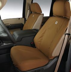Ford Carhartt Seat Covers by Covercraft - Brown, Captains Chair, Front Seat at Partscheap.com