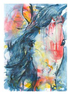 Wild Horse Painting Fine Art Print /Horse painting/Horse lover gift/Animal Painting/Horse Art/SFEtsy