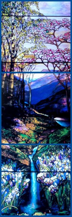 Louis Comfort Tiffany Window in memory of Sarah Fay - summer - 4.3 x 6.1 m - 1912