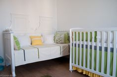 day bed and crib