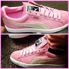 Pink puma suede sneakers❤️