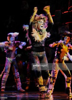 Cast member 'Rum Tum Tugger' performs with others during a media call... News Photo | Getty Images