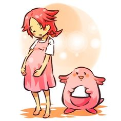 Pokemon Gijinka Chansey #Pokemon