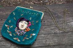 Evening boho chic lady's bag