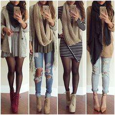 """""""Styling my fave scarves from @dailylook @dailylook 