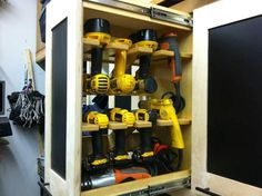 Awesome drill storage and access. I thought this was a ton of drills till I counted my own.| Amanda Palafox, REALTOR | The Robyn Porter Group | Your Real Estate Agent for Life® | Washington DC metro area | call/text 202-236-4431; email amanda@robynporter.com |