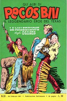 LA MALEDIZIONE DEGLI OSAGES - Albi di Pecos Bill n.° 23 - 26 Febbraio 1961