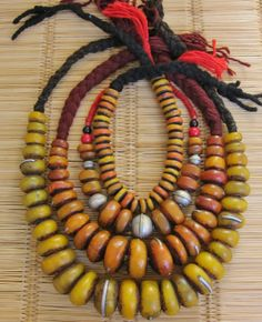 Berber Resin Amber restringed Beads, Henna & Saffran colored Small & Big with Metal pieces (Western Sahara) https://www.etsy.com/shop/TuaregJewelry https://www.facebook.com/TuaregJewelry