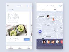 Event Screens designed by Vivek for Iwarsi Ui Design Mobile, App Ui Design, User Interface Design, App Design Inspiration, Android Ui, Mobile App Ui, Health App, Application Design, Apps