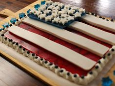 Red, White and Blue Gelatin Flag Recipe : Food Network Kitchen : Food Network - FoodNetwork.com