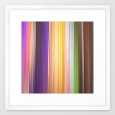 Different soft coloured striped abstract Framed Art Print