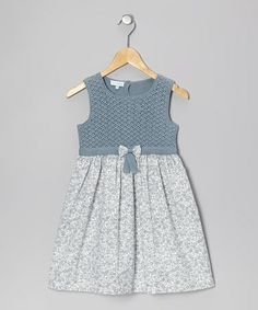 Take a look at this Blue Floral Crochet Dress  by Miskiwawa on #zulily today!