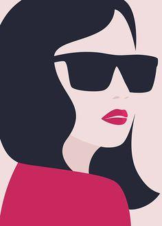 Girl in Sunglasses Poster Art Sketches, Art Drawings, Country Wall Art, Art Pictures, Photos, Modern Art Prints, Face Art, Illustration Girl, Pop Art