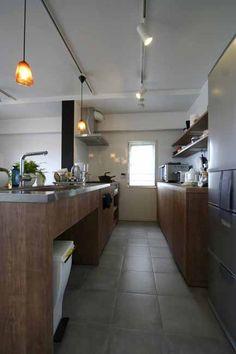 ふたりで並べる3mの特大キッチン