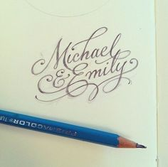 50 Inspiring Examples of Hand-lettering - Michael and Emily - hand-lettering script