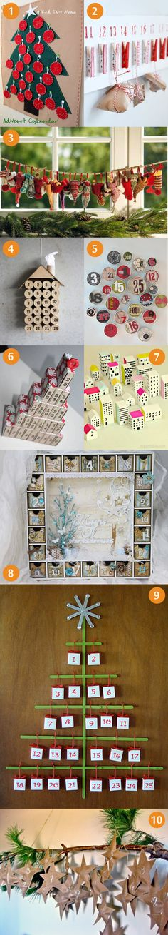 DIY advent calendar tutorial, Christmas, craft project, matchboxes, free printables, street, houses, christmas tree, lollipops, knitted sock...