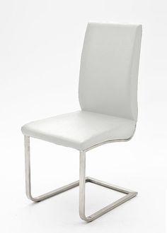 2 Freischwinger Esszimmerstuhl Stühle Weiß 4862. Buy now at https://www.moebel-wohnbar.de/2-freischwinger-esszimmerstuhl-stuehle-weiss-4862.html